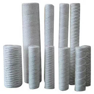 String Wound Filter Cartridges - Bleached Cotton String Wound Filters - Media: White Bleached Cotton - .5 Micron - Core: Tin Plated Steel - Diameter: 2.5in. - Length: 20in. - Part Number: CE.5R20T